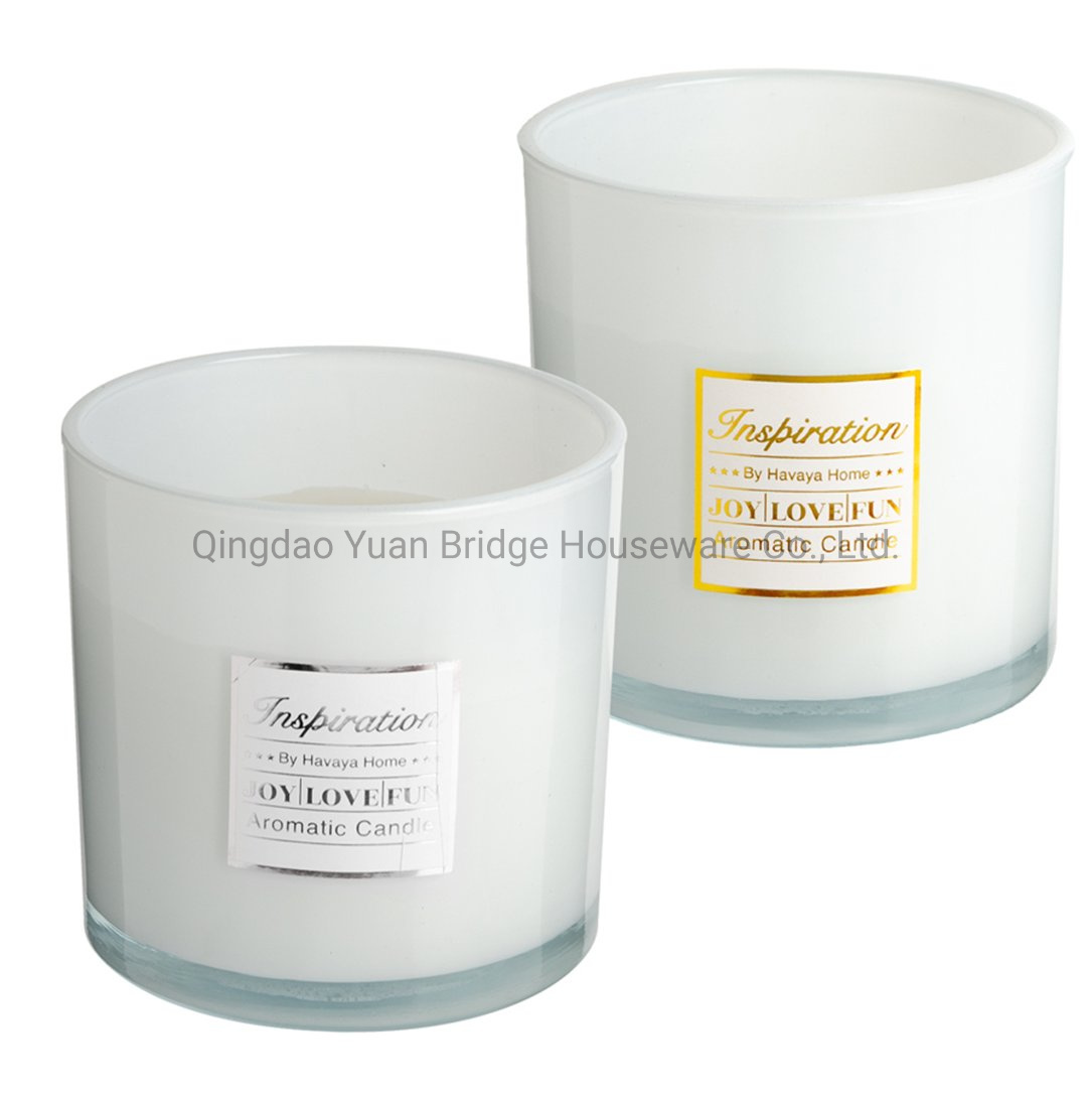 China Paraffin Wax Made Scented Candle Mix With Concentrate Perfume In White Glass Jar And Gold Label Decor China Perfume And Party Supplies Price