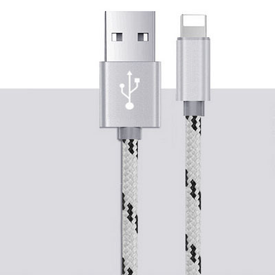 3FT/6FT/9FT 8 Pin Tiger Braid Nylon USB Data Cable pictures & photos