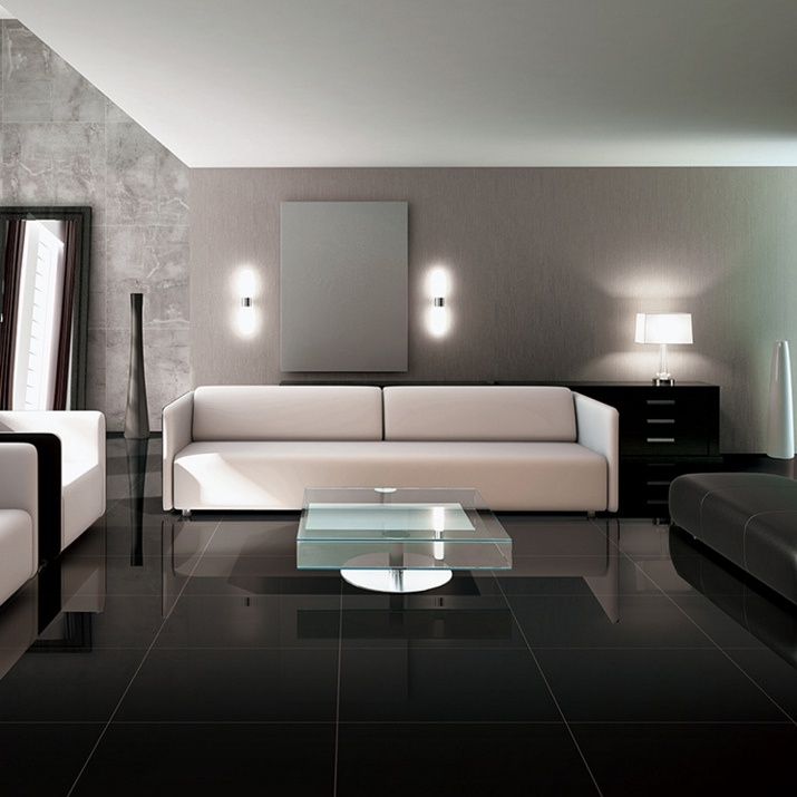 China 60x60 Full Body Super Black Polished Porcelain Floor Tiles