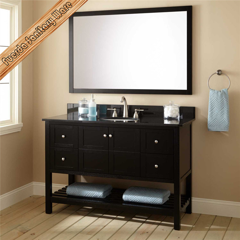 China Fed 355 Espresso Finishing Hotel Style Solid Wood Bathroom Vanity Cabinet China Bathroom Vanity Bathroom Cabinet