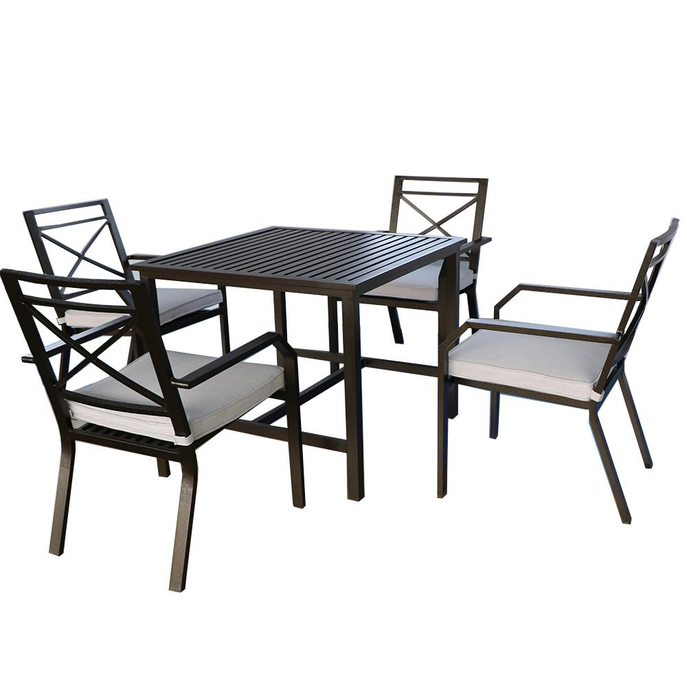 [Hot Item] Cast Aluminium Patio Dining Table Furniture Outdoor Garden Sets