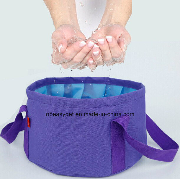 Collapsible Water Carrier Container Foldable Bucket Outdoor Camping Hiking
