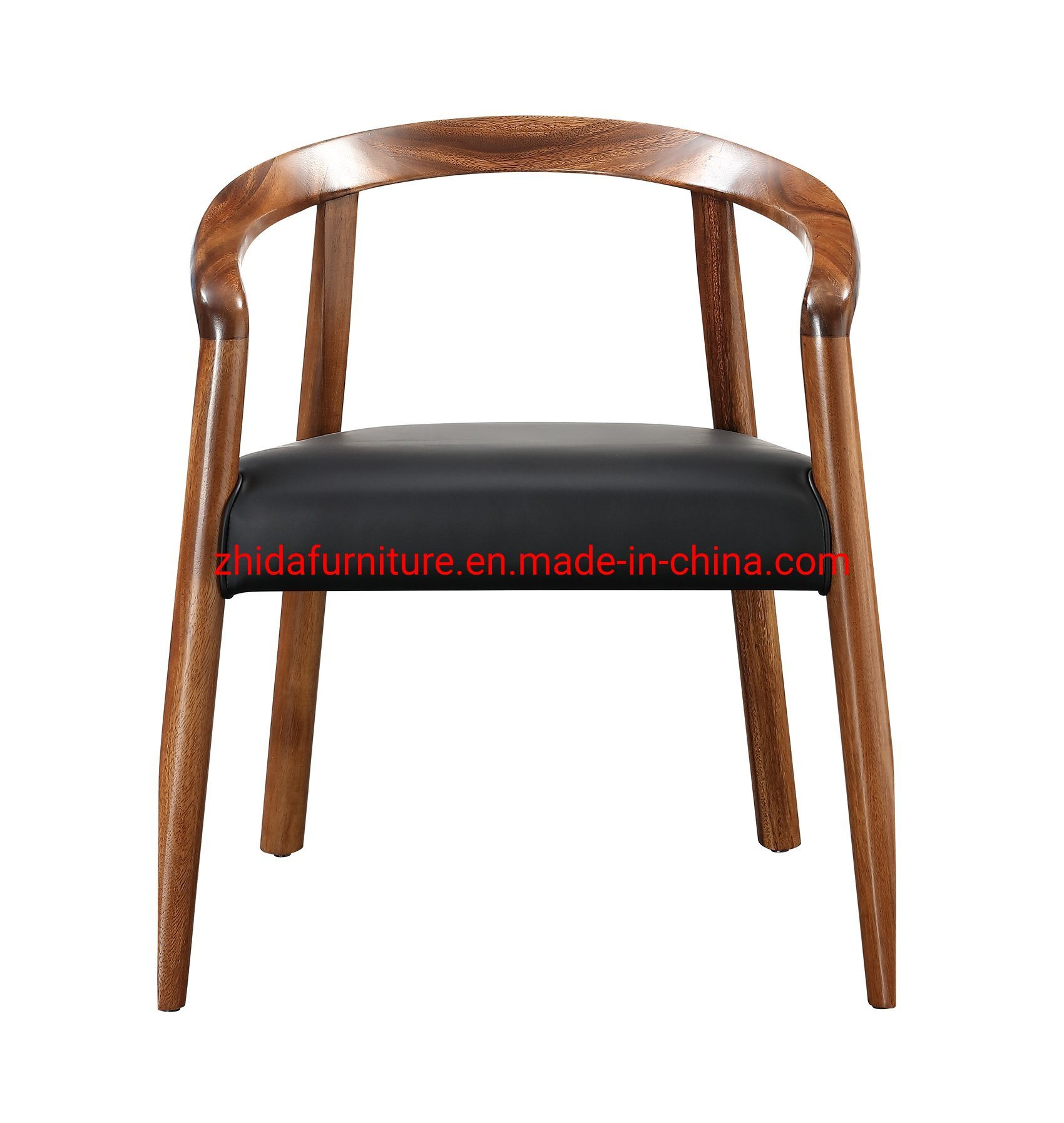 Image of: China Modern Bedroom Desk Chair Walnut Wood Coffee Shop Reception Area Chair China Wooden Chair Single Chair