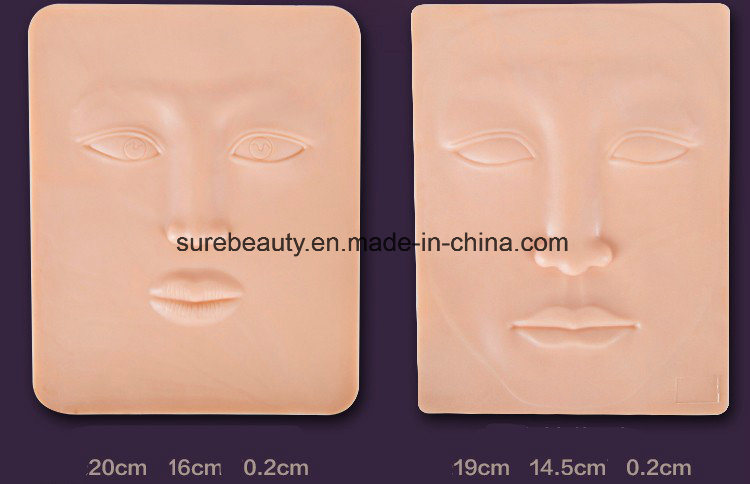 China OEM 3D Lip Permanent Makeup Silicone Tattoo Practice Skin ...