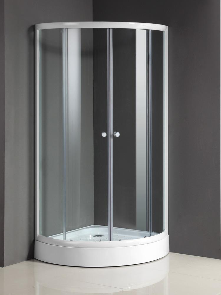 China Sliding Glass Shower Doors with Ivory Shower Tray - China ...
