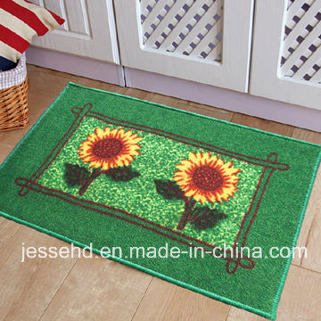 Colorful Vegetables Pattern, Loop Pile Surface Carpet, Latex Backing Rug