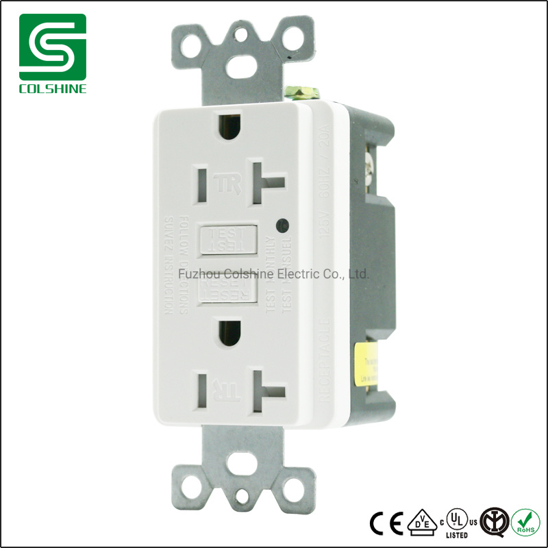 China 15a 20a Gfci Ground Fault Circuit Interrupter Outlets