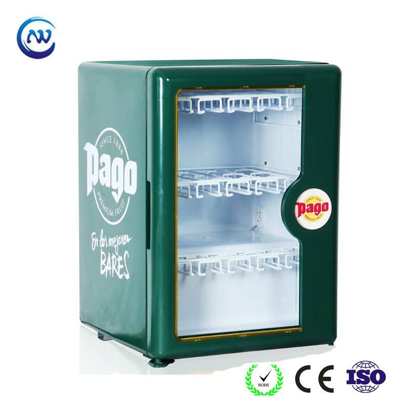 China Desktop Mini Fridge For Drink Counter Top Cooler Jga Sc50s Refrigerator Showcase