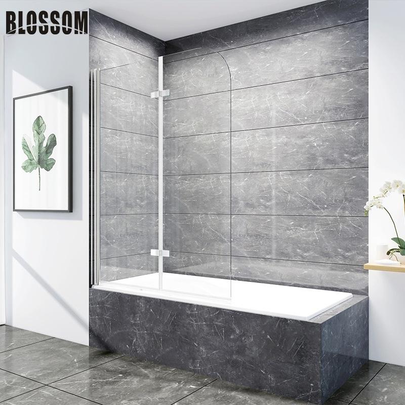 China Modern Bathroom Tempered Foldable Glass Bath Shower Screens