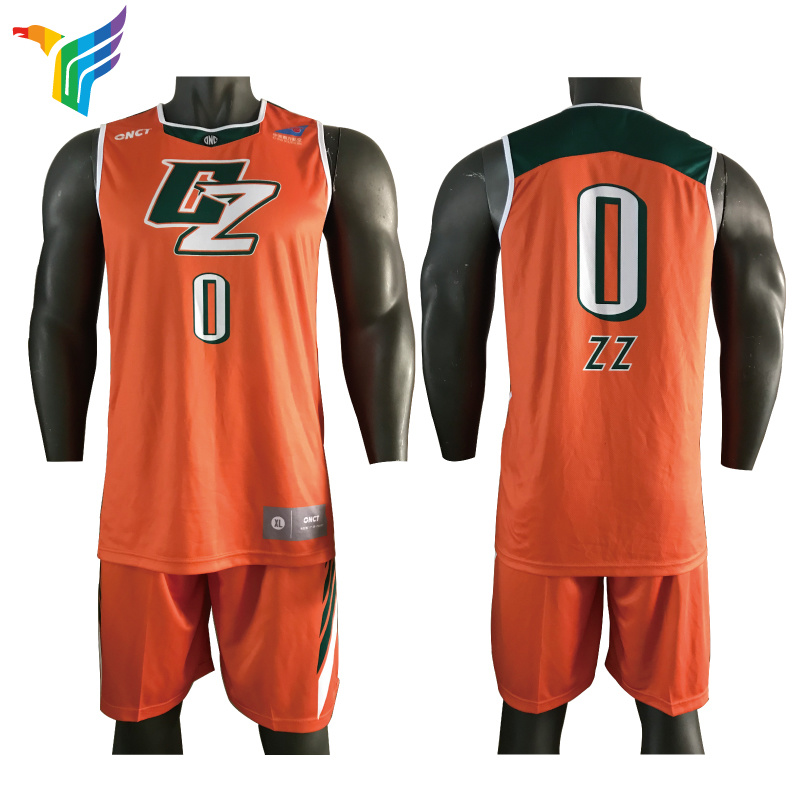 on sale 2f986 7f220 [Hot Item] 2018 Full Transfer Printing Custom Orange Basketball Uniforms  Basketball Jerseys