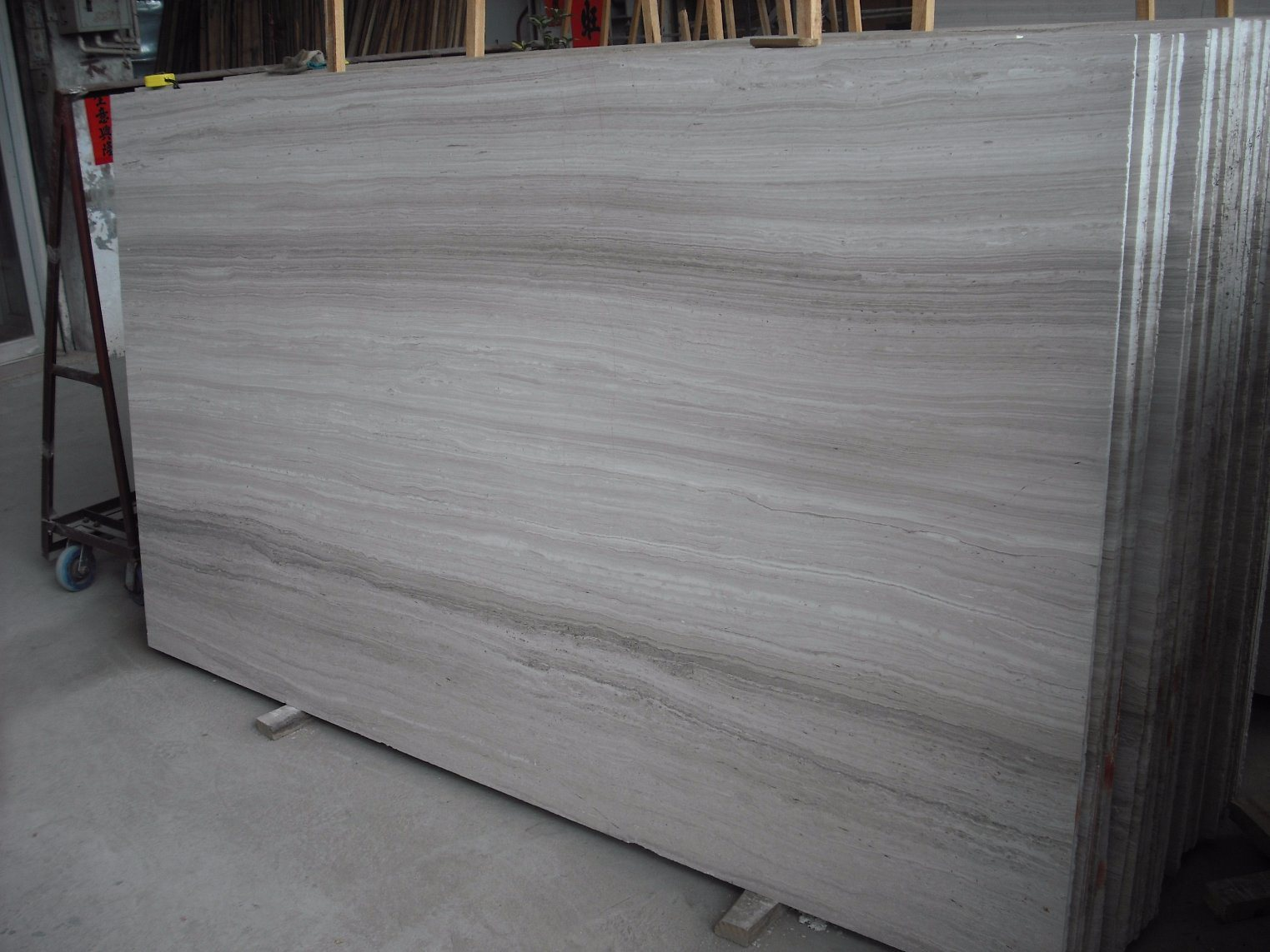 China Grey Wood Grain Marble Flooring