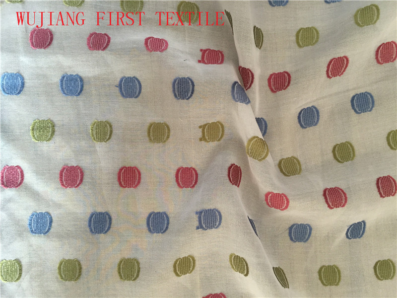 Silk Cotton Polyester Jacquard Yarn-Dyed Woven Fabric