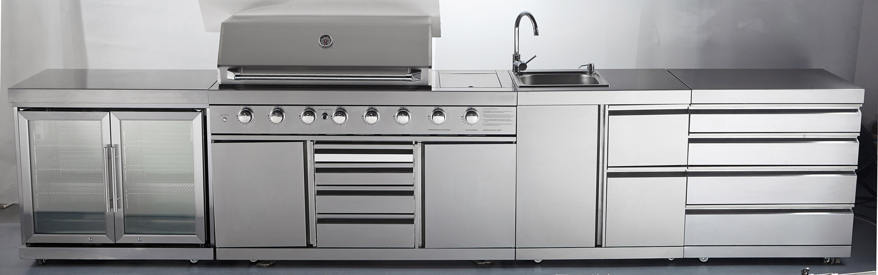 Full Stainless Steel Outdoor Gas BBQ Kitchen with Ce/Aga/CSA pictures & photos