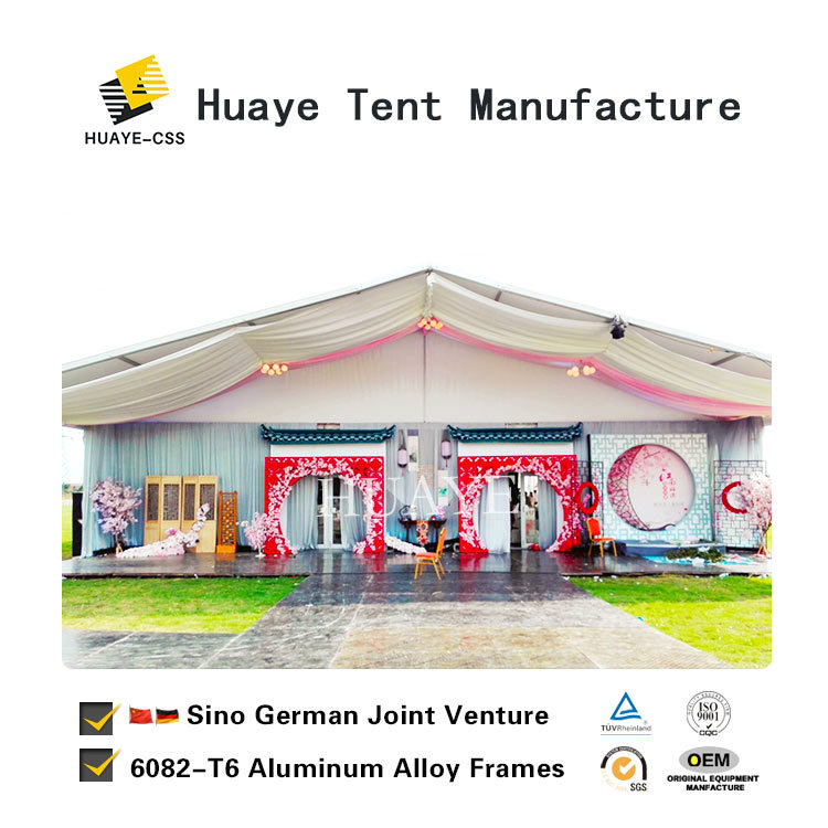 Outdoor Luxury Wedding Tent With German Standard Material Hy049g