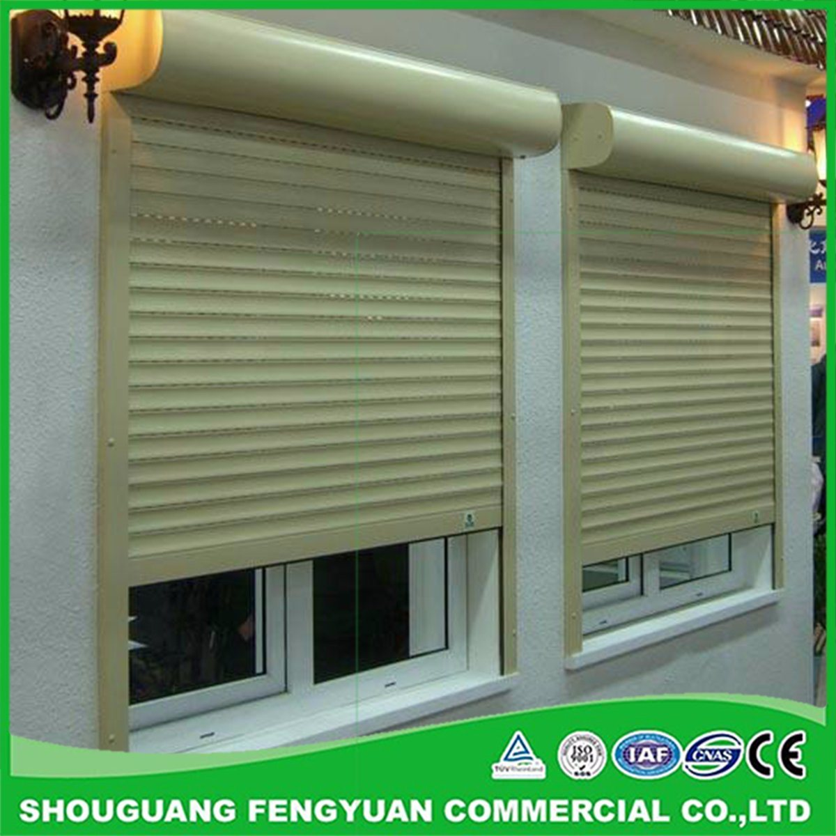 Hot Item Different Sizes Colorful No Rustied 2 4mm Window Aluminium Roller Shutters For Security