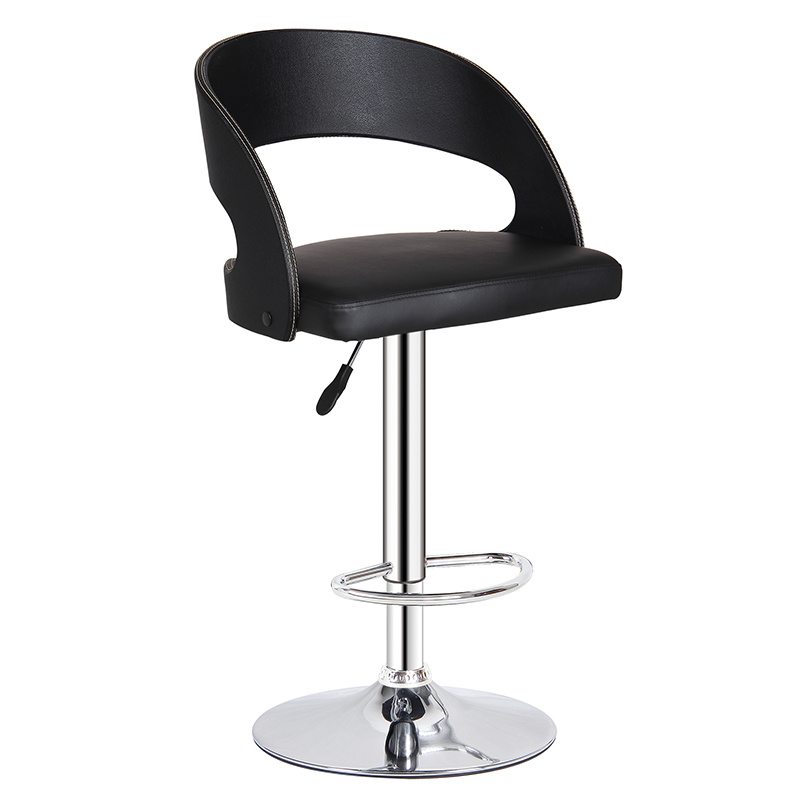 Superb Hot Item Modern Black Leather Leisure Dining Hydraulic Bar Stools Fs Wb091P Squirreltailoven Fun Painted Chair Ideas Images Squirreltailovenorg