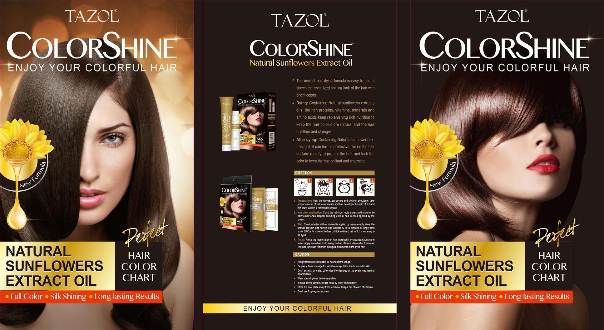 China Tazol Hair Care Colorshine Hair Color Natural Black 50ml