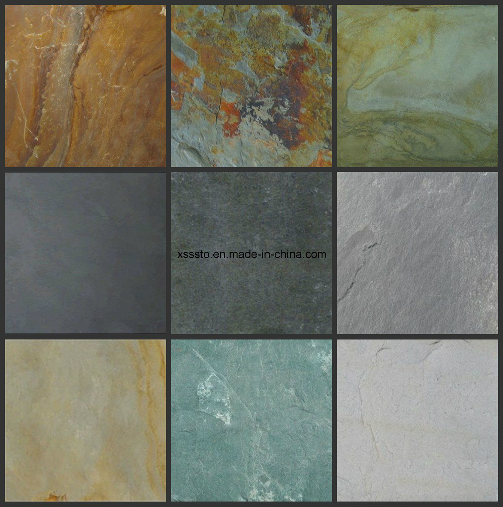China Cheapest Rusty Stone Slate Floor Tiles For Paving Photos