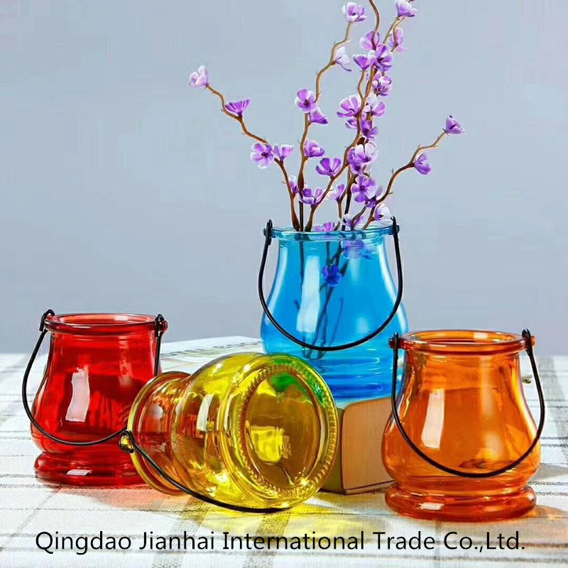 New Style Cheap Decorated Colored Glass Vase From Chinese Factory
