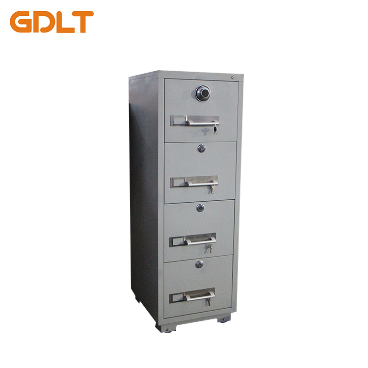 China Fireproof Office Metal 4 Drawer File Cabinet/Luoyang White Funky  Vertical A4 Storage Steel Filing Cabinet Furniture   China Fireproof Drawer  Cabinet, ...