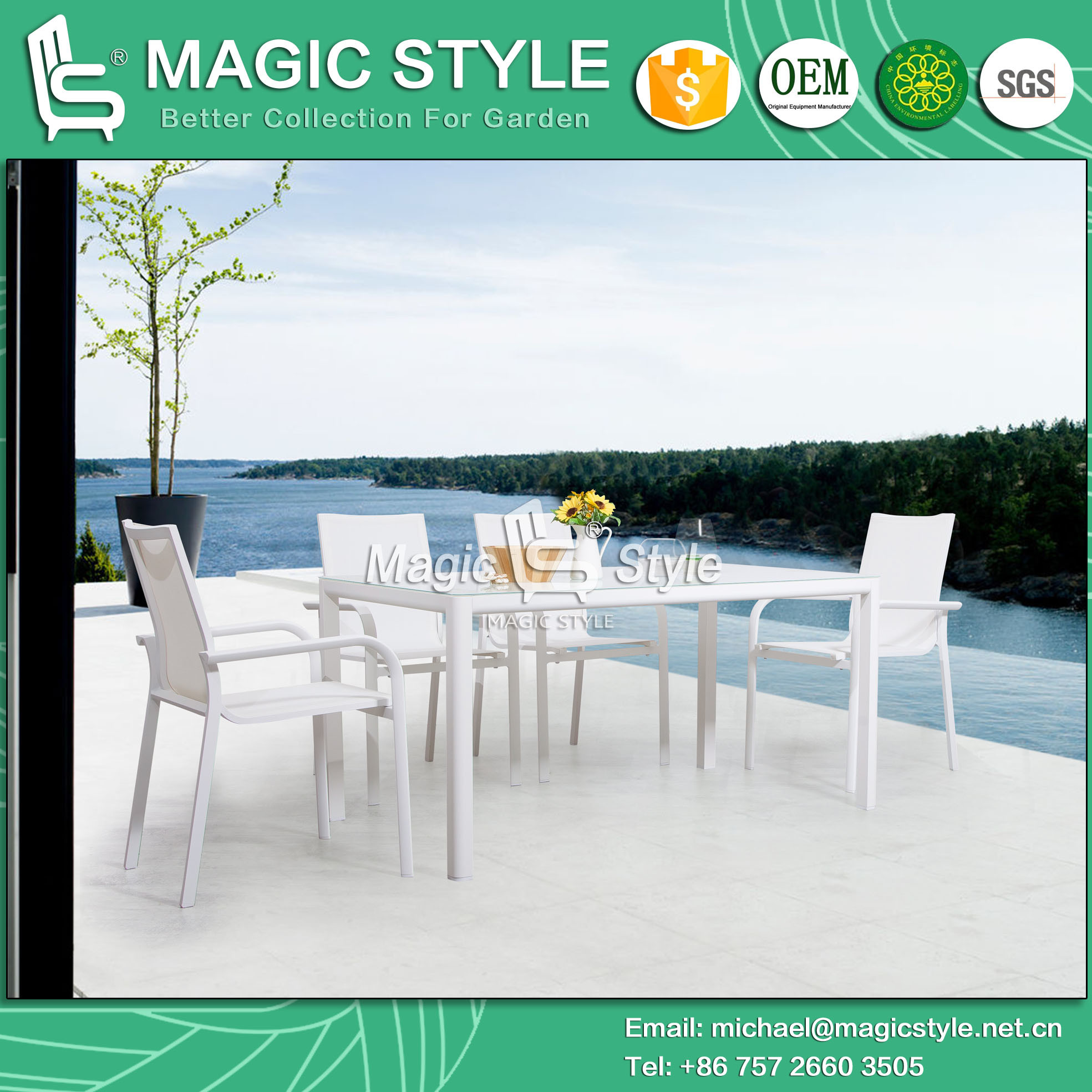 Outdoor Texitle Dining Set Garden Sling