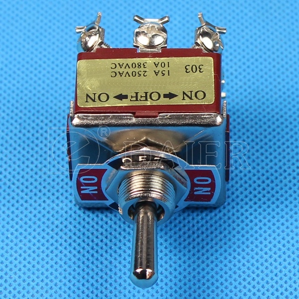 on off on Metal 15A 3 Pole 3-Way 9 Pintoggle Switch (KN3C-303) pictures & photos