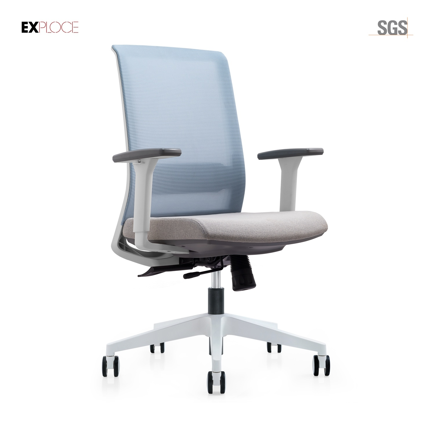 Hot Item High Quality Low Back Mesh Chair Office Chair White Color 6215b 1