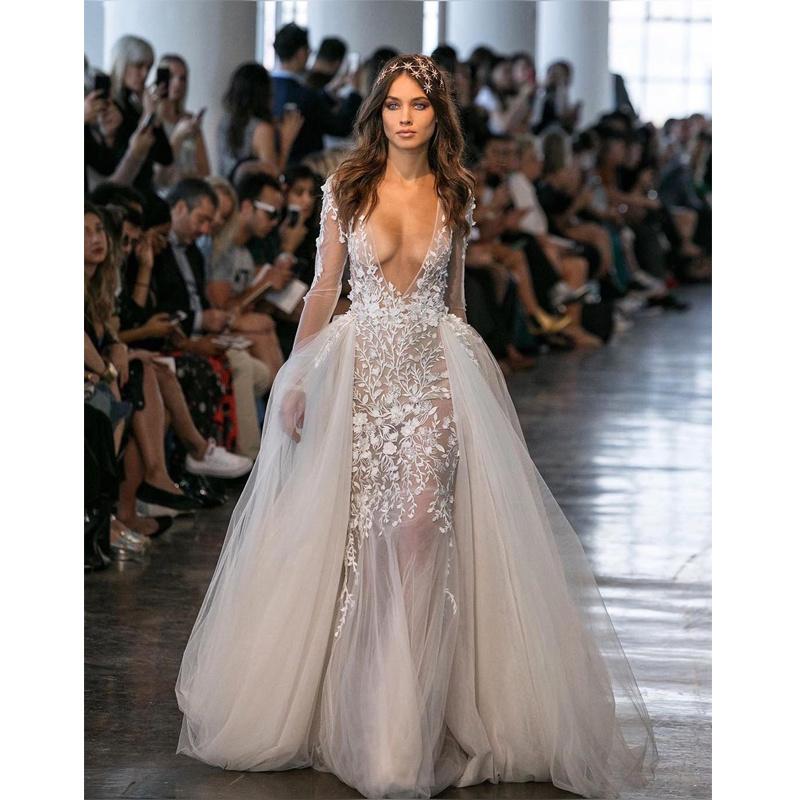 China Berta Wedding Dresses Sheer