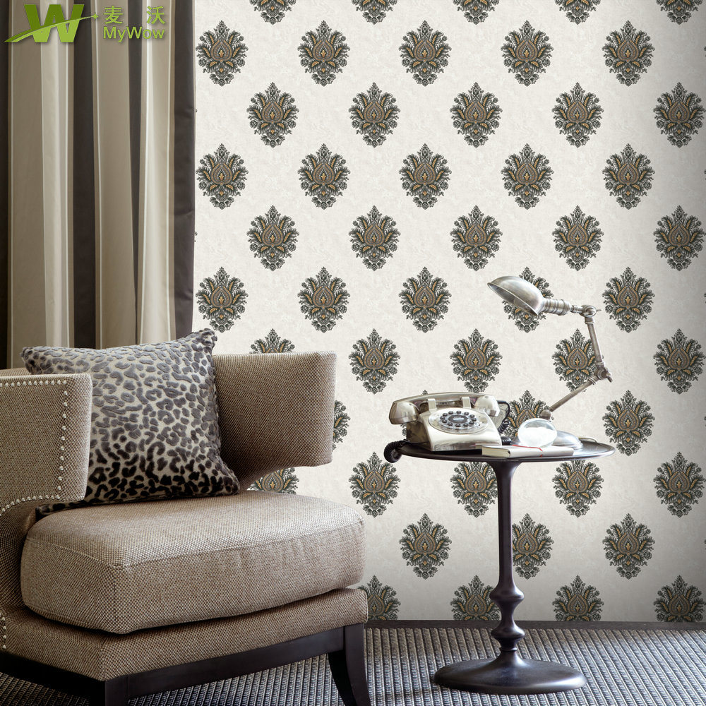 3D Floral Wall Paper PVC Wateprroof Home Deocration Wallpaper pictures & photos