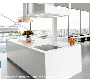 High Quality Modern White Kitchen Cabinets Corian Made