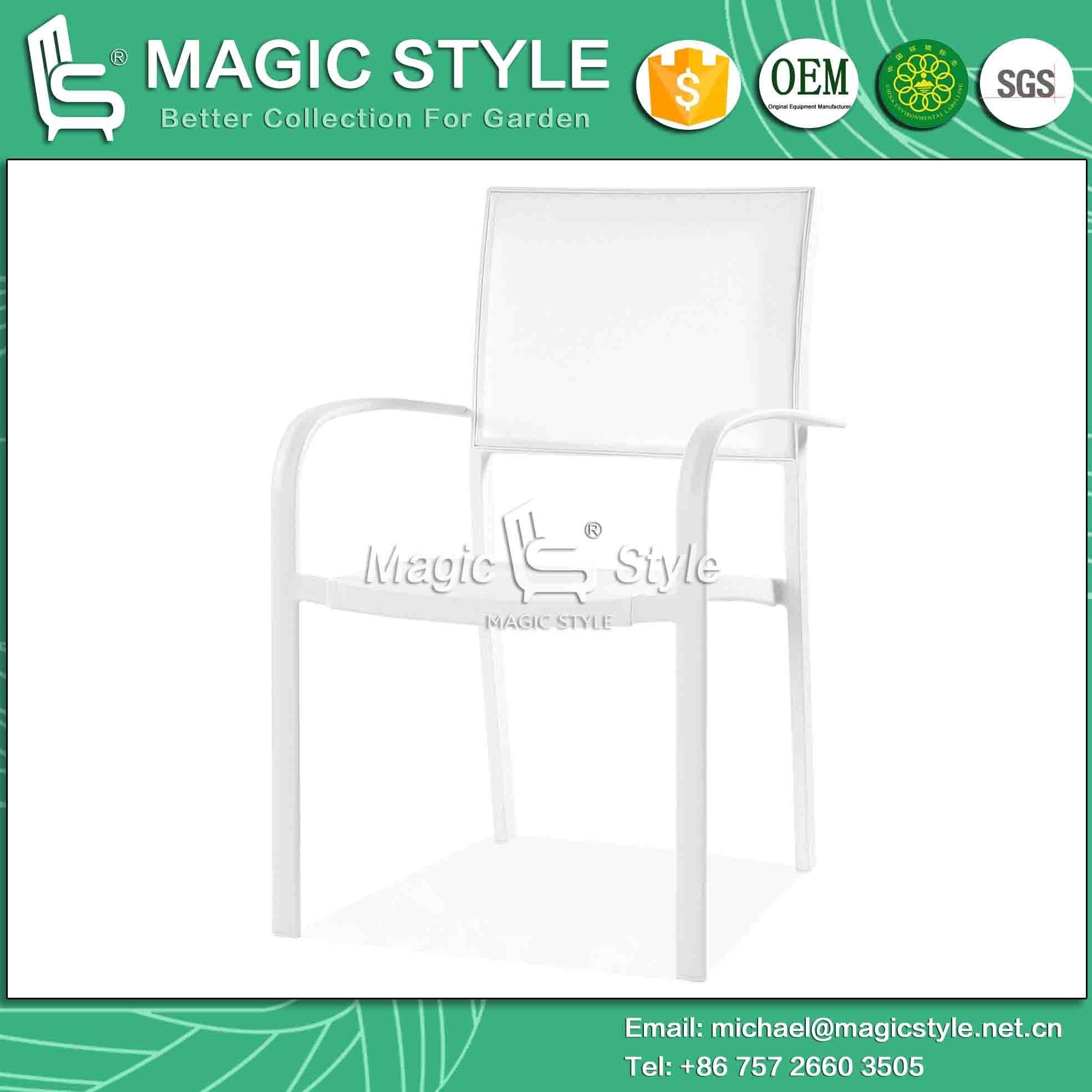 Dublin Dining Set Aluminum Chair Dining Chair Rectangle Table Outdoor Furniture Water-Proof Chair (MAGIC STYLE) pictures & photos