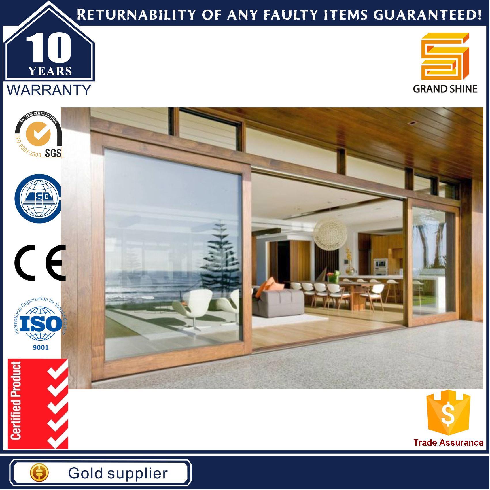 China High Quality Aluminium Frame Heavy Duty Sliding Stacking Doors