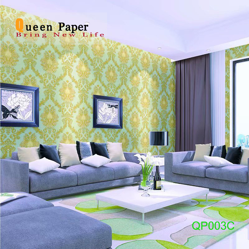China Building Material Wall Paper High Quality Luxury Pvc Wallpaper For Home Decor Vinyl Waterproof Decoration