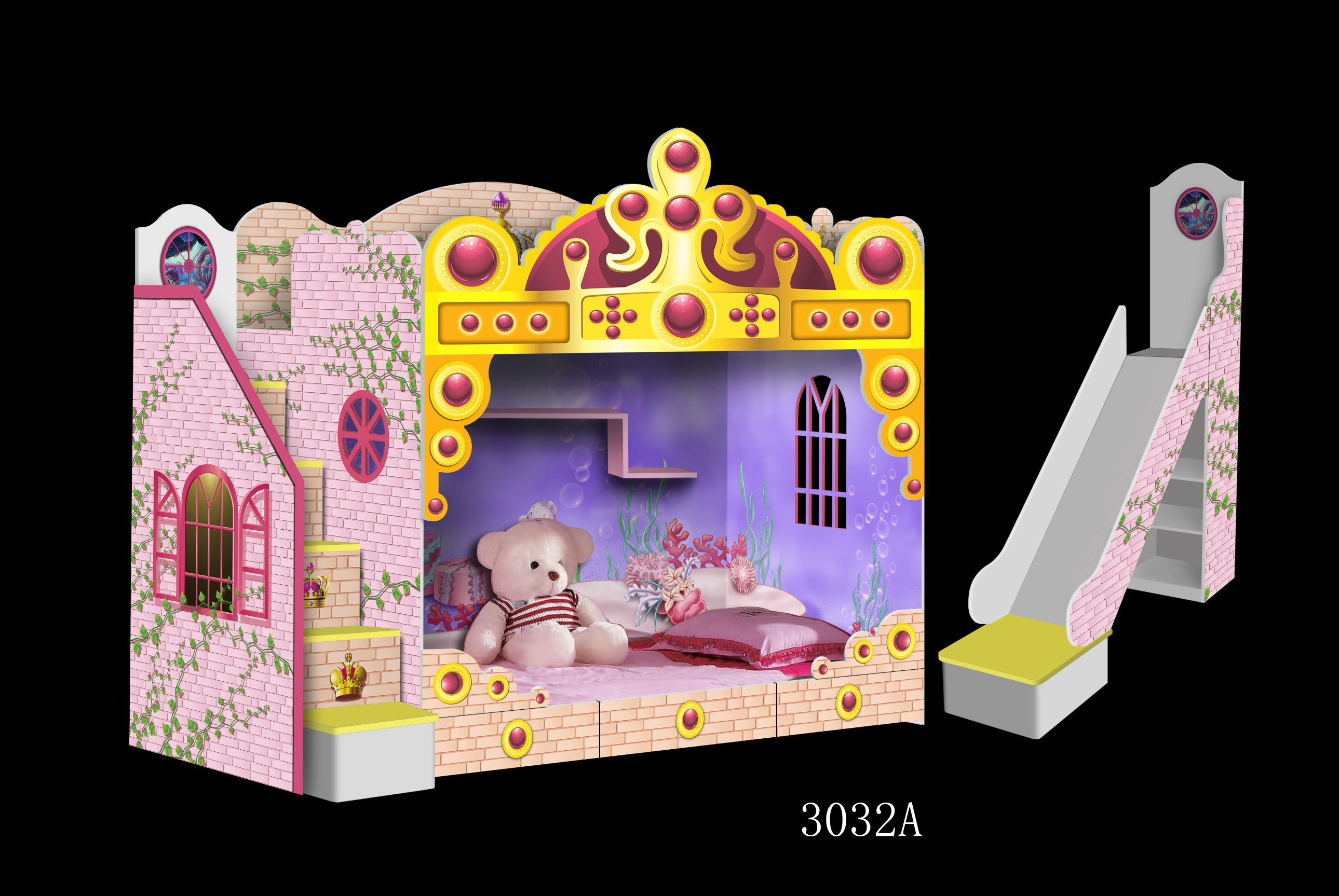 Picture of: China New Style Kids Castle Bed Bunk Bed China Bunk Beds Loft Beds