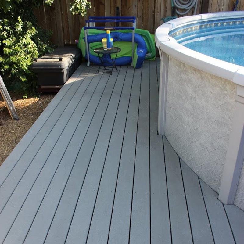 [Hot Item] Grey Composite Decking WPC Decking Floor Swimming Pool Deck