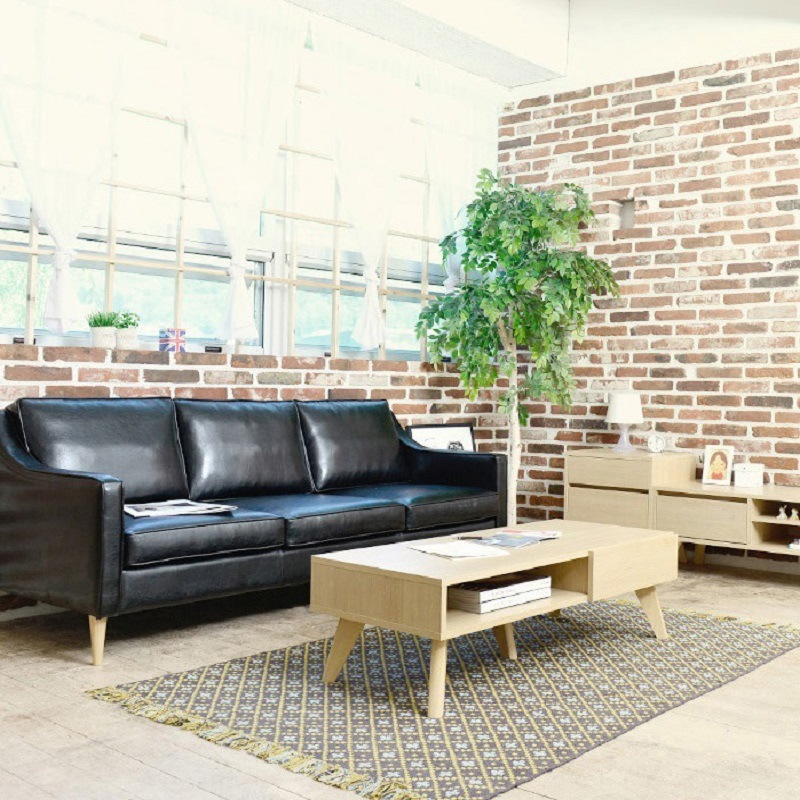 China Nordic Style Leisure Living Room Coffee Leather Sofa Furnitures