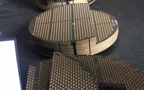 Copper Nickel Alloy UNS C70400 UNS C70620 UNS C68700 Tube Sheets TubeSheets Baffles Support Plates Tube Plates