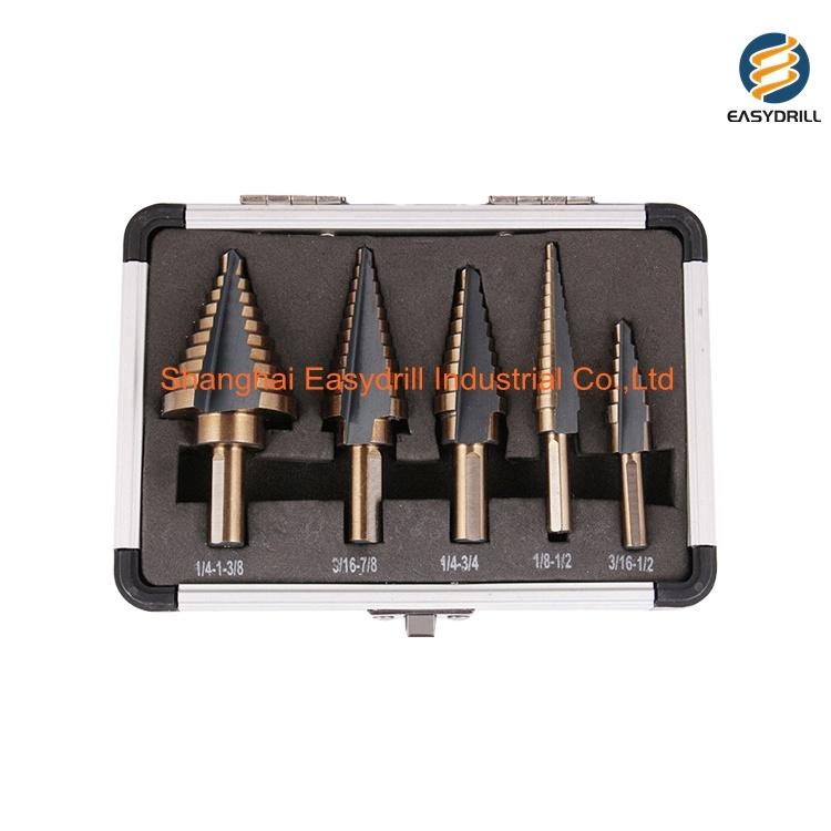 """2 pc 3//4/"""" Titanium Coated Pro Twist Drill Bit HSS 1//2/"""" Shank For Metal"""
