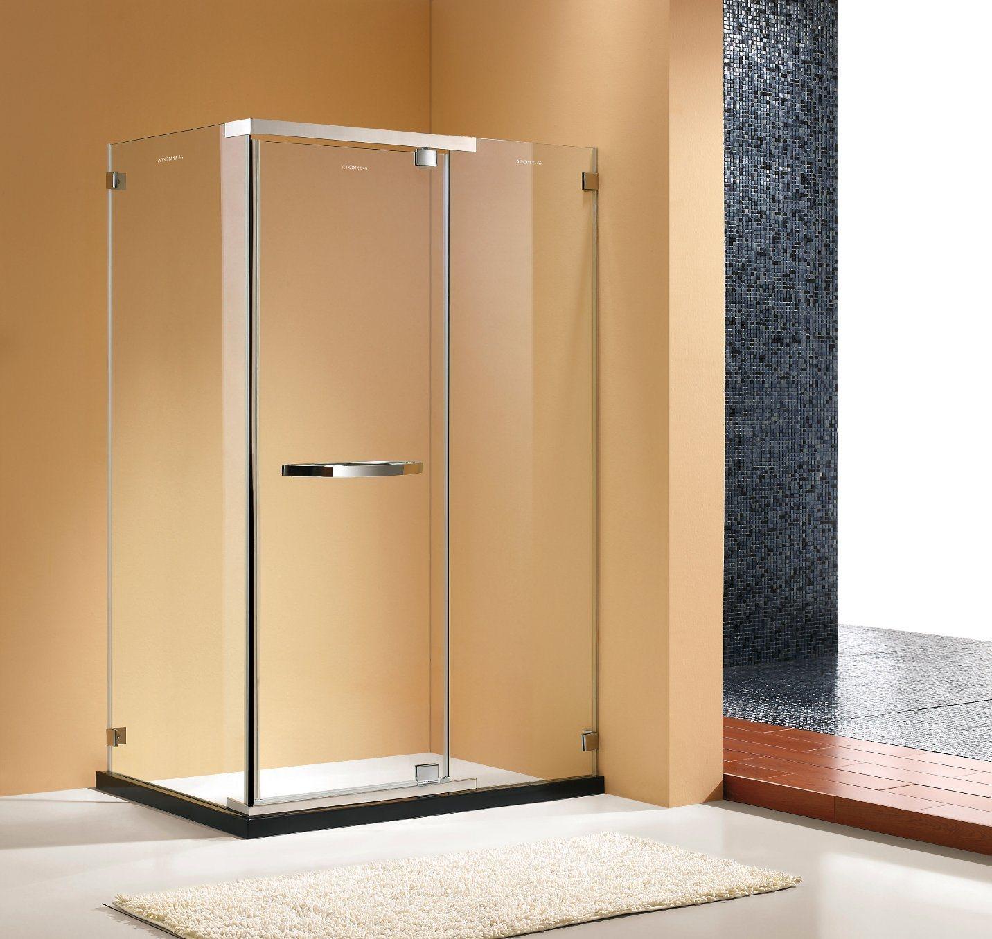 Hot Item Chrome Finish Frameless Pivot Shower Enclosure 3 8 Glass