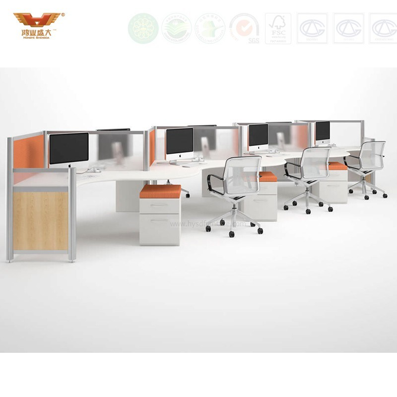 Straight Office Workstation Big Desk With Partition