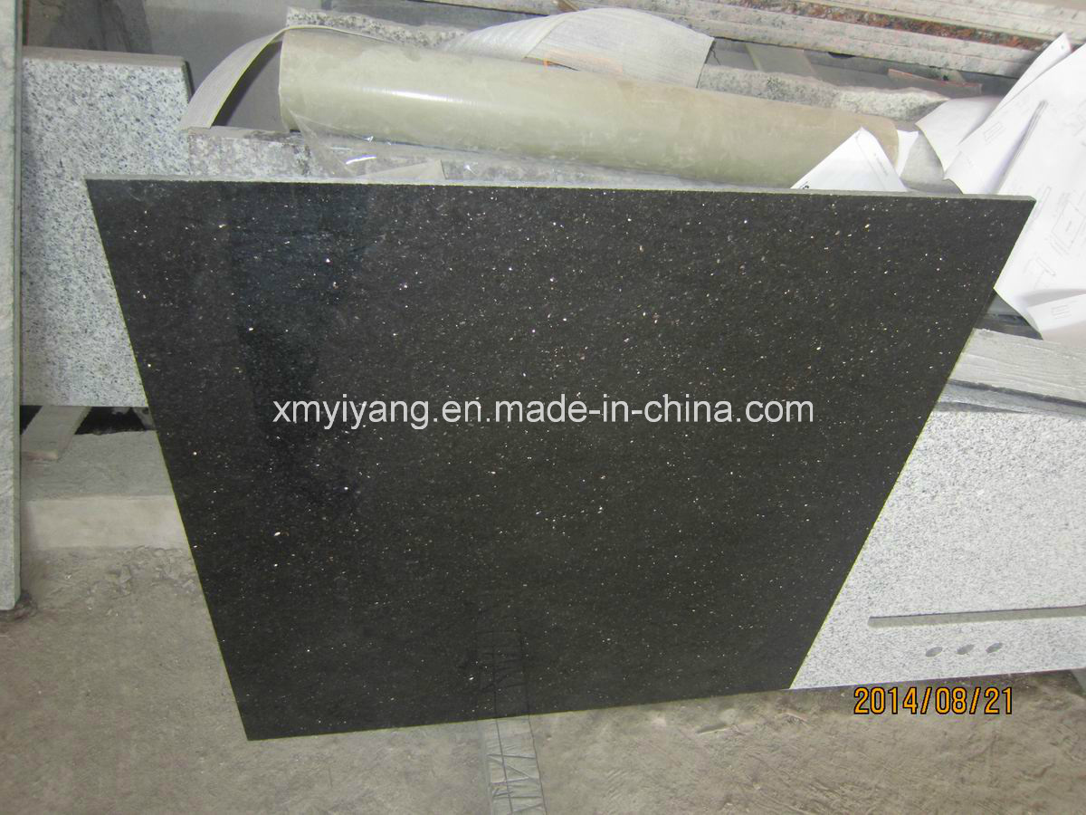 China Star Galaxy Black Granite Tiles For Kitchen Floor China