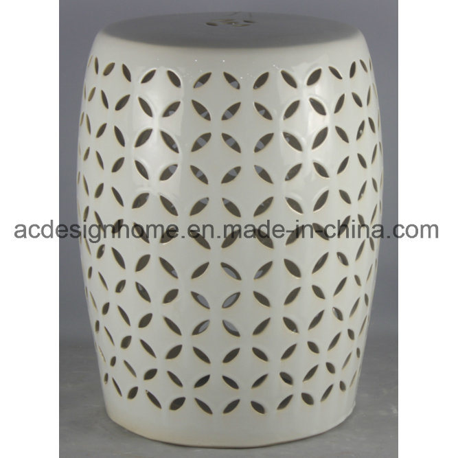 Excellent Hot Item High Quality Best Price Most Favorite Garden Item Decorative Creamy White Piercing Ceramic Stool For Garden Decor Andrewgaddart Wooden Chair Designs For Living Room Andrewgaddartcom