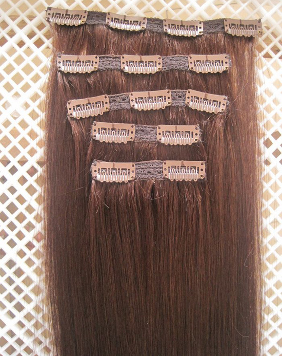 China Wholesale 100 Human Remy Quad Weft Clip In Hair Extension