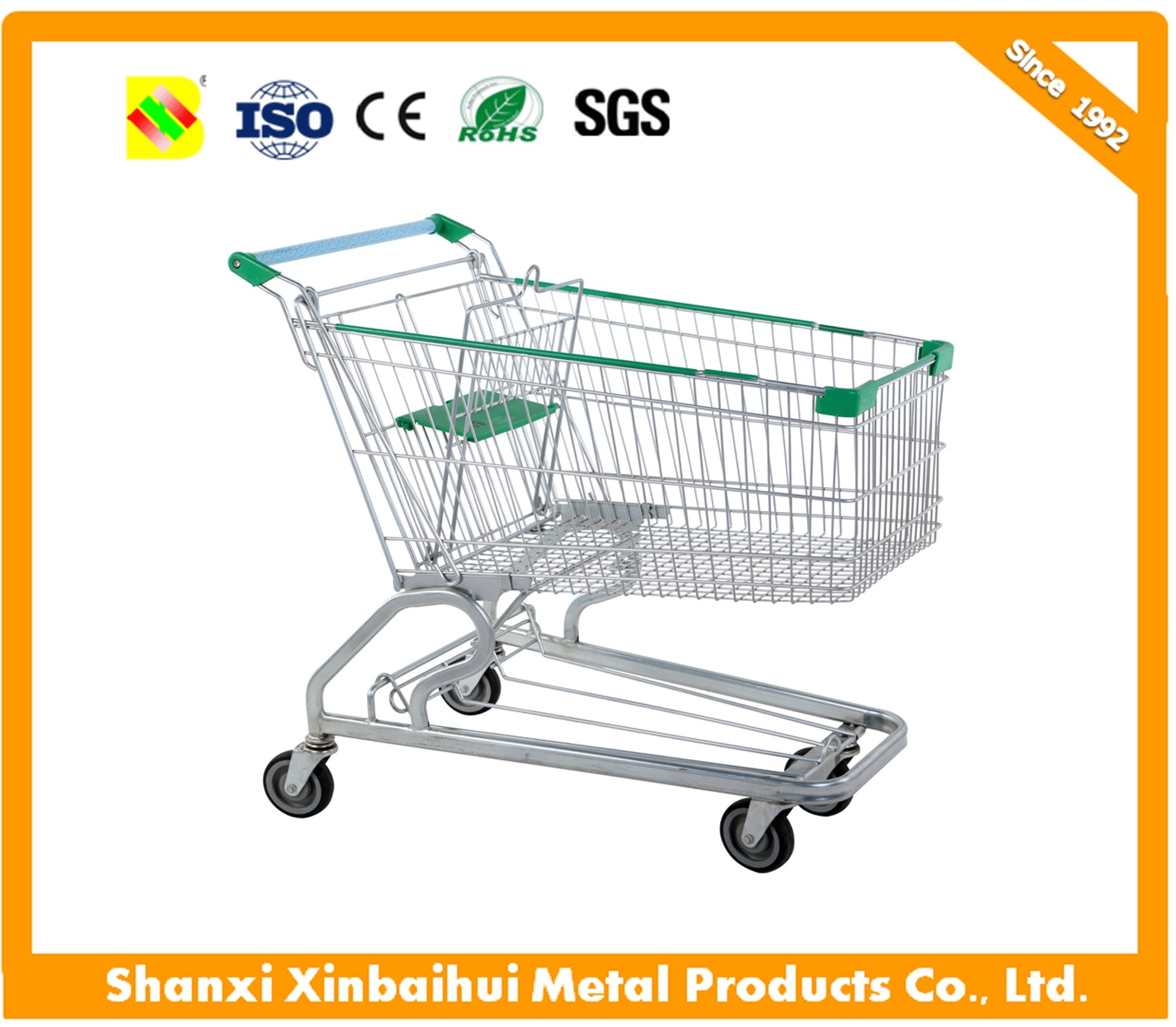 China Wholesale Cheap Price Supermarket Push Cart Retail Grocery