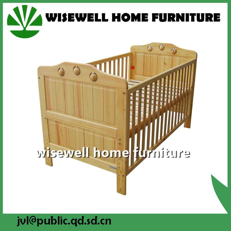 China Pine Wood Baby Cot Designs