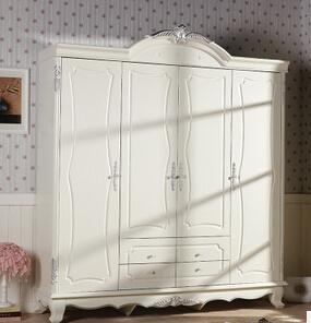 China Classic White Oak Wood Wardrobe Bedroom Furniture ...