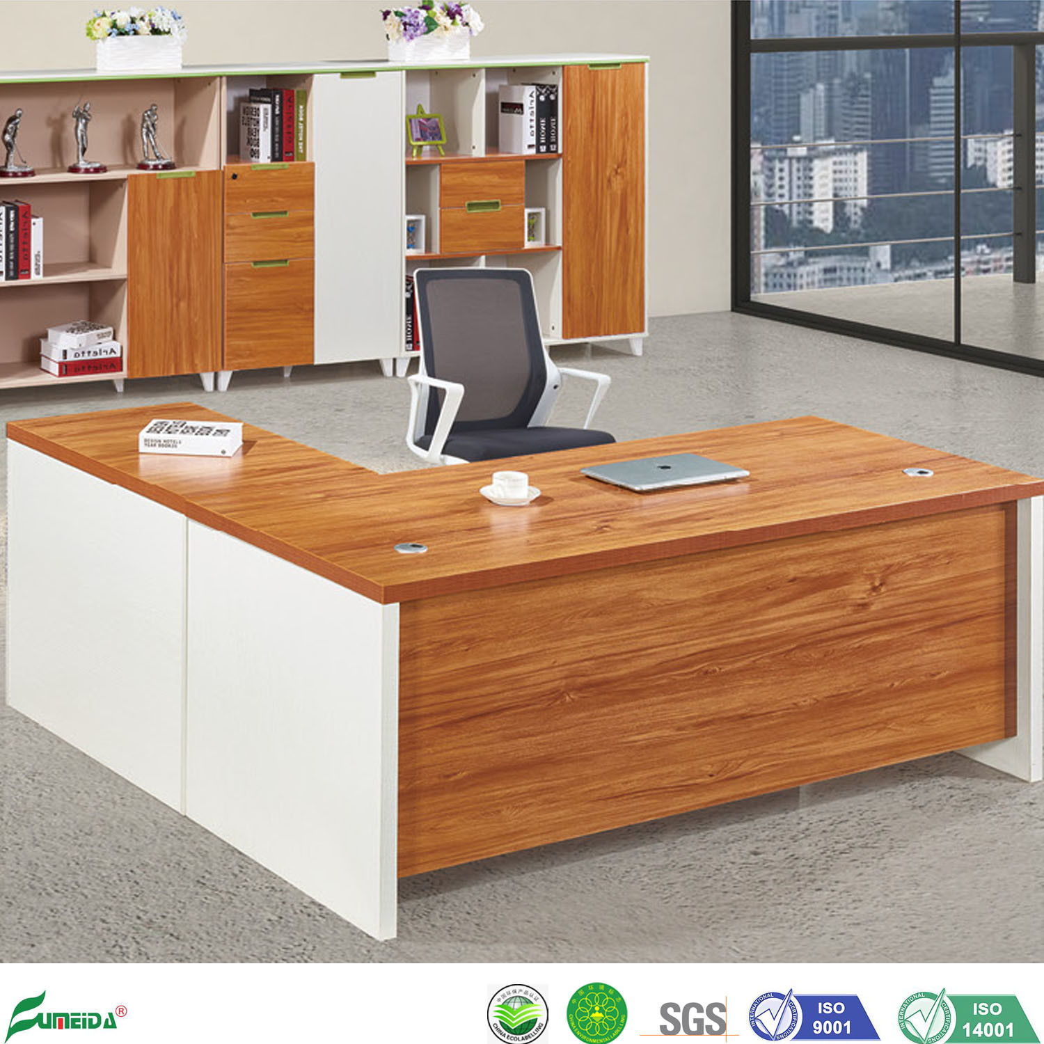 Hot Item Panel Furniture Modern Particle Board Office Executive Tables