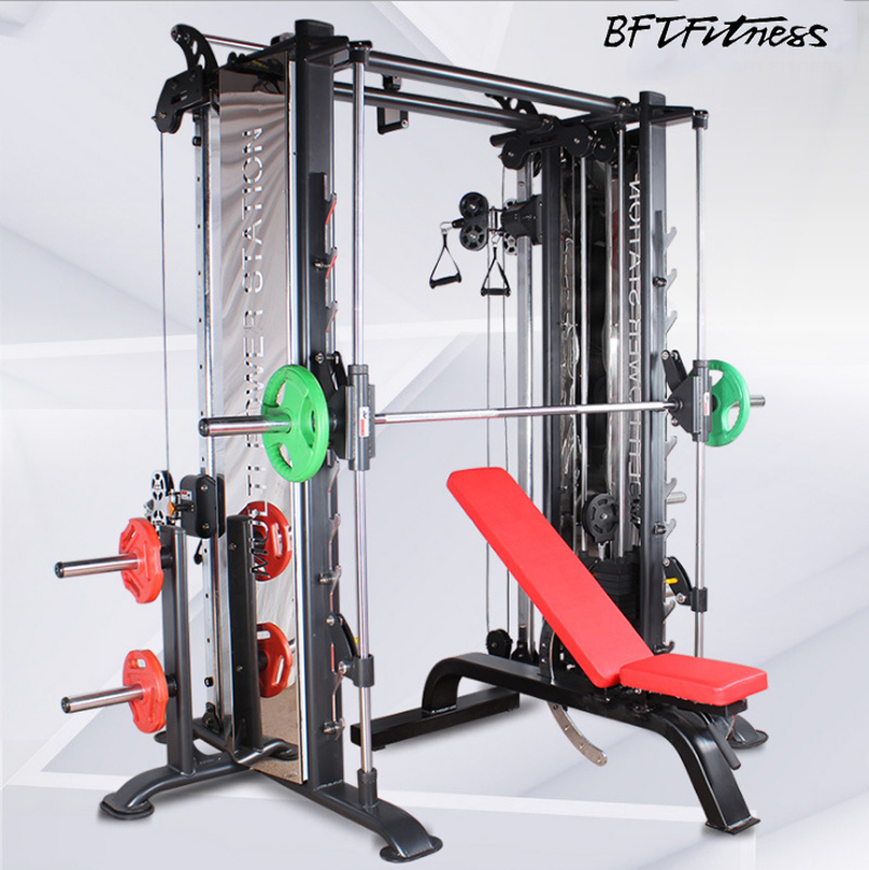 China Bft-3081 Smith Machine and Cable Crossover Commercial Gym Equipments  - China Gym Equipment and Commercial Gym Equipments price