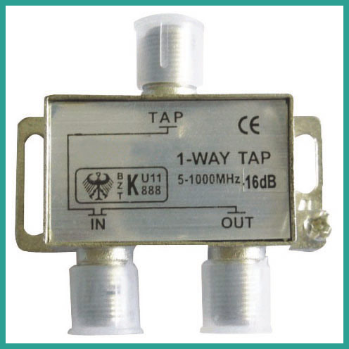 CATV Splitter Satellite Amplifier Splitter 1 Way Tap (5-1000MHz)