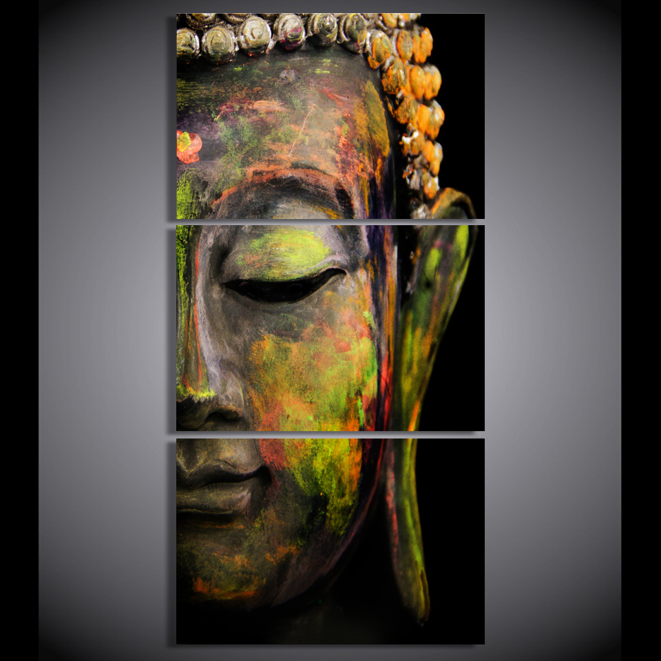 Canvas Art Printed Buddha Portrait Art Painting Canvas Print Room Decor Print Poster Picture Canvas Mc-020